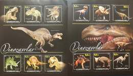 O) 2017 AZERBAIJAN, PREHISTORIC ANIMALS - DINOSAURS - TYRANNOSAURS - ALBERTOSAURUS - SPINOSAURUS - TOROSAURUS - STEGOSAU - Azerbaïjan