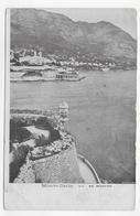 MONTE CARLO VU DE MONACO - CASSURES ANGLES - CPA NON VOYAGEE - Monte-Carlo