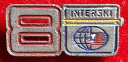 8th International Ski Congress 1968 Aspen / 8. INTERSKI 1968 ASPEN Badge / Pin - Winter Sports