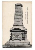 Braine L' Alleud Eigenbrakel Monument Aux Soldats Brainois Morts Pour La Patrie 1914 - 1918 - Eigenbrakel
