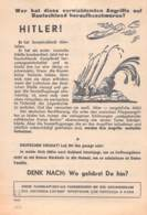 WWII WW2 Flugblatt Tract Leaflet Soviet Propaganda Against Germany  CODE 1833 - 1939-45
