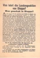 WWII WW2 Flugblatt Tract Leaflet Soviet Propaganda Against Germany  CODE 1848 - 1939-45