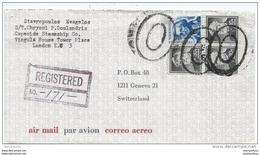 73 - 93 - Enveloppe Recommandée Envoyée Des USA En Suisse 1969 - Verenigde Staten