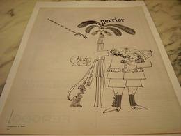 ANCIENNE PUBLICITE MORT DE SOIF  PERRIER   1963 - Perrier