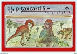 """SWITZERLAND:ΚP-93/117  L&G PRIVATE TK  """"Sieger AG - Die Ganze Welt Der Philatelie (Dinosaurier)"""" CN:308L - Switzerland"""