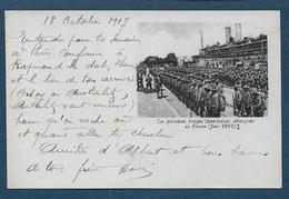 Les Premières Troupes Américaines Débarquées En France ( Juin 1917 ) - Marcofilia (sobres)
