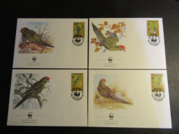 NORFOLK ISLAND - 1987 - WWF - PROTEZIONE DEGLI UCCELLI - BIRDS - 4 BUSTE FDC - Isola Norfolk