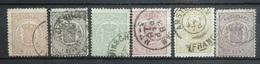 NEDERLAND  1869     Nr. 13 - 18    Gestempeld  / Verschillende Tandingen    CW 310,00 - Period 1852-1890 (Willem III)