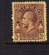 TURKS AND CAICOS 1928 KING GEORGE V RE GIORGIO 2p MNH - Turks E Caicos