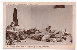1920s KINGDOM OF SHS, FROM WWI WAR ALBUM OF MAJOR A. POPOVIC, NO4, MAJOR ZIVKOVIC ON DUTY - Yugoslavia