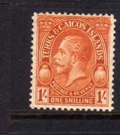TURKS AND CAICOS 1928 KING GEORGE V RE GIORGIO 1sh MNH - Turks E Caicos