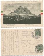 """. Alpini 34° Divisione Cart. """"Vette D'Italia Redente Dal 24mag1915"""" Il 8mag1916 X Piacenza - Military Mail (PM)"""