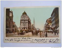 Cpa Autriche Wien Praterstrasse Animée Attelage Chevaux 1901 Br. Kohn - Prater