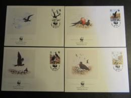 ASCENSION - 1990 - WWF - PROTEZIONE DEGLI UCCELLI - BIRDS - 4 BUSTE FDC - Ascensione