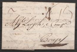 "L. Datée 29 Août 1760 De MIDDELBURG Pour BRUGES - Port ""13"" (?) - 1714-1794 (Austrian Netherlands)"