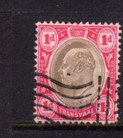 TRANSVAAL 1902 1903 KING EDWARD VII RE EDOARDO ONE PENNY 1p USATO USED OBLITERE' - Sud Africa (...-1961)