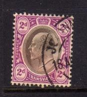 TRANSVAAL 1902 1903 KING EDWARD VII RE EDOARDO PENNY 2p USATO USED OBLITERE' - Sud Africa (...-1961)