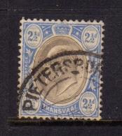 TRANSVAAL 1902 1903 KING EDWARD VII RE EDOARDO PENNY 2 1/2p USATO USED OBLITERE' - Sud Africa (...-1961)