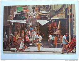 Hong Kong A View Of A Typical Street With Steps In Central District - Chine (Hong Kong)