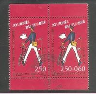 JOURNEE DU TIMBRE 1993. Y&T Paire Oblitérée N° P2793A ( 2793 + 2792 ). Avec Marges Sup. Et Inf. - Usati