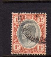 TRANSVAAL 1902 1903 KING EDWARD VII RE EDOARDO SHILLING 1sh USATO USED OBLITERE' - Sud Africa (...-1961)