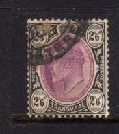 TRANSVAAL 1902 1903 KING EDWARD VII RE EDOARDO 2sh 6p 2/6 USATO USED OBLITERE' - Sud Africa (...-1961)