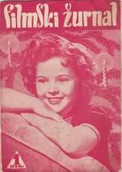 SHIRLEY TEMPLE FRONT COVER FILMSKI ZURNAL MAGAZINE YUGOSLAVIA 1939 - Magazines