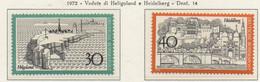 PIA - GERMANIA  - 1972  : Turismo - Vedute Di Heligoland E Heidelberg - (Yv 596-97) - Vacanze & Turismo