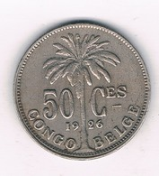 50 CENTIMES 1926  BELGISCH CONGO /5219/ - 1910-1934: Albert I