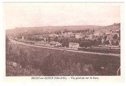 Recey Sur Ource (21 - Côte D'Or) Vue Générale Sur La Gare - France