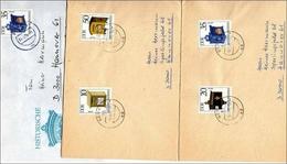 DDR  Brief Echt Gelaufen  MiNr.  2924-2927     3 Briefe - [6] República Democrática