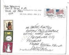 USA 2012 PURPLE MARTIN Forever, 2006 AMERICAN CLOCK 10c, 2007 5c American Toleware Postal History Cover - Cartas