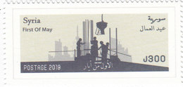 Syria New Issue 2019 Labor Day 1v.complete Set MNH- SKRILL PAYMENT ONLY - Syria
