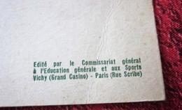 WWII Le Sport Vu Par Le Commissariat Général De Vichy Sous Le Régime De Pétain Les 20 Commandements Du Jeune Sportif Doc - Documents Historiques