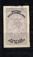 Lot Britisch Bechuanaland Ancien Timbre à Identifier - Verzamelingen (zonder Album)