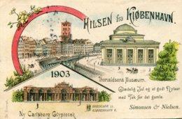 DENMARK - HIlsen Fra Kobenhavn -  Chromo - Undivided Rear 1903 - Three View - Dänemark