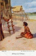 NEW GUINEA - Artcard - A Papuan Village - Good Ethnic Etc - Papua New Guinea