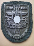 """MAGNIFIQUE PLAQUE DE BRAS ALLEMANDE WW21942-1943 STALINGRAD """"VOIR DETAIL DANS LA DESCRIPTION"""" - Allemagne"""