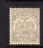 TRANSVAAL Zuidafrikaansche Republiek 1885 1893 COAT OF ARMS STEMMA ARMOIRIES HALF PENNY 1/2p MNH - Sud Africa (...-1961)