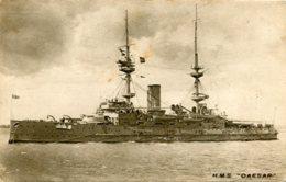 UNITED KINGDOM.  HMS CAESAR - Raphel Tuck No 4315.  Dreadnought Battleship - Warships
