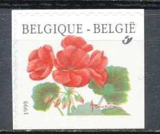 D - [154103]TB//**/Mnh-[2850a] Belgique 1999, Fleurs, Pelargonium, , ND/Imperf à Droite Et En Bas, SNC - Plants
