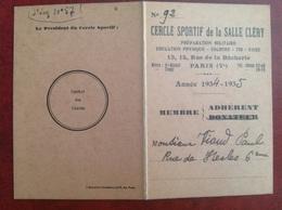 Cercle Sportif Salle Clery Paris Viaud Consul De France 1935 - Zonder Classificatie