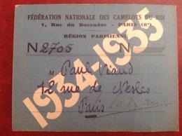 Federation Des Camelots Du Roi  Paris Viaud Consul De France 1935 - Zonder Classificatie