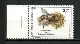 SPM MIQUELON 1994  N° 594 ** Neuf MNH Superbe C 2 € Faune Insectes Fleurs Insects Flowers Animaux Cristalis Tenax - Neufs