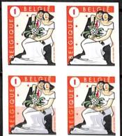 D - [154828]TB//**/Mnh-Belgique 2007 - N° 3738+a+b+c, Circonstances, Mariage, Les 4 Types Se Tenant, Permanents, Fêtes - - Neufs