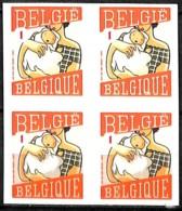 D - [154834]TB//**/Mnh-Belgique 2007 - N° 3740+a+b+c, Circonstances, Naissance (fille), Les 4 Types Se Tenant, Permanent - Autres