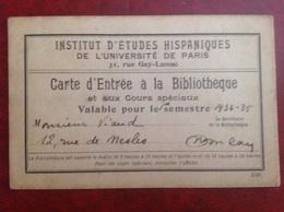 Paris Etudes Hispaniques Viaud Consul De France 1938 - Zonder Classificatie