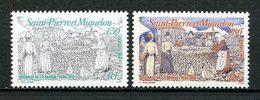 SPM MIQUELON 1994 N° 595/596 ** Neufs MNH Superbes C 1,90 € Poissons Fishes Pêche Sèchage De La Morue Femmes - Neufs