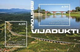 HR 2019-1376-7 BRIDGES, HRVATSKA CROATIA, S/S. MNH - Croazia