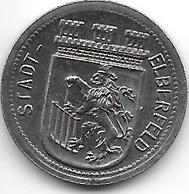 Notgeld Elberfeld 50 Pfennig 1918 Fe  3605.7 / F 111.6A/b - [ 2] 1871-1918 : Imperio Alemán